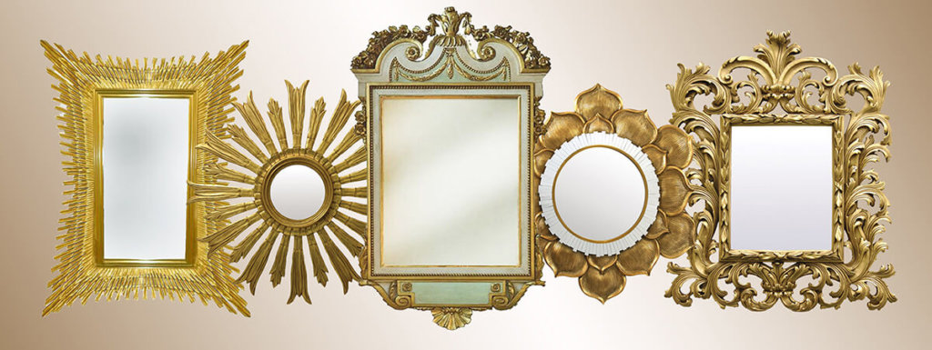water gilded frame